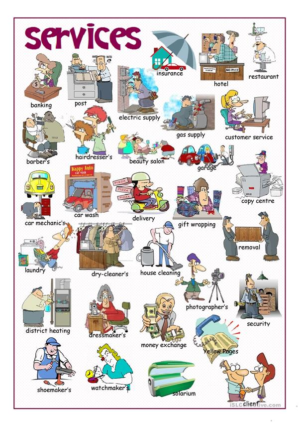 Services Picture Dictionary