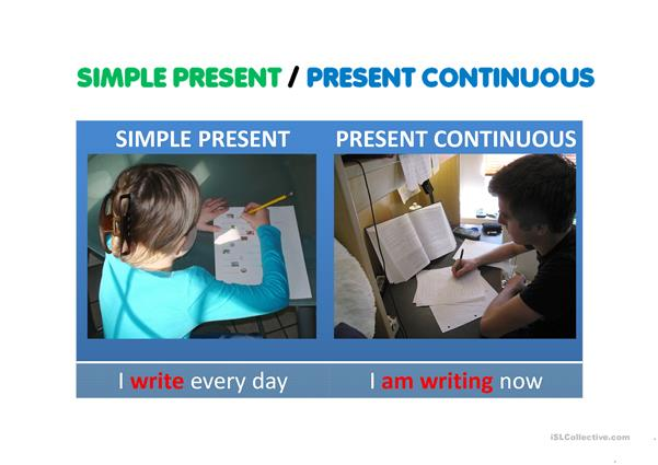 SIMPLE PRESENT VS PRESENT CONTINUOUS