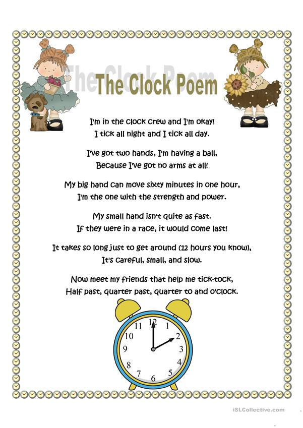 The clock poem