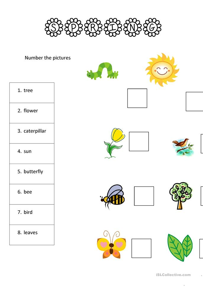 Spring English Worksheets : Spring worksheets for yls worksheet free esl printable