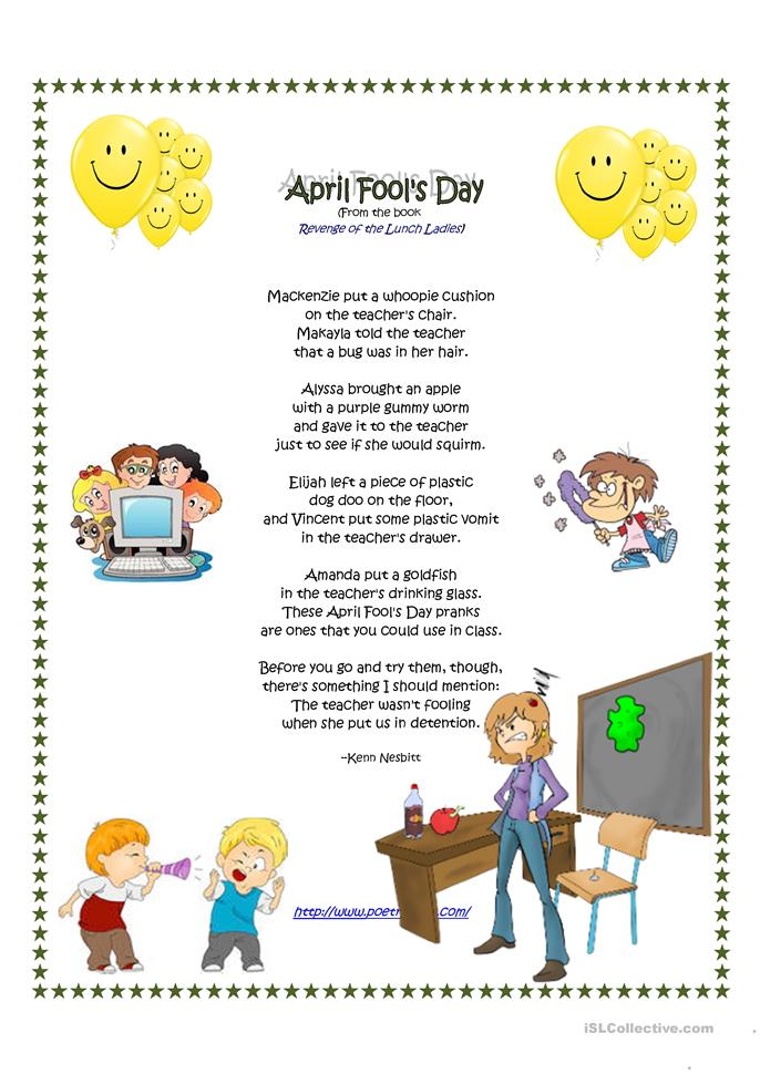 Pics Photos - Day Poem 2014 Poem April Fool S Day Elementary Abcteach Poem