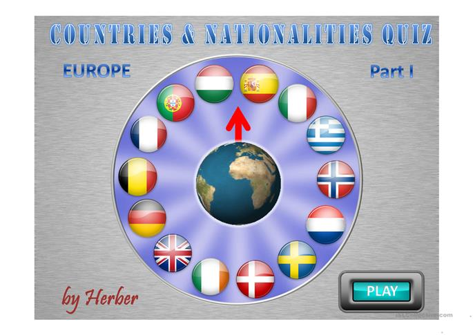 COUNTRIES WHEEL I - ESL powerpoints