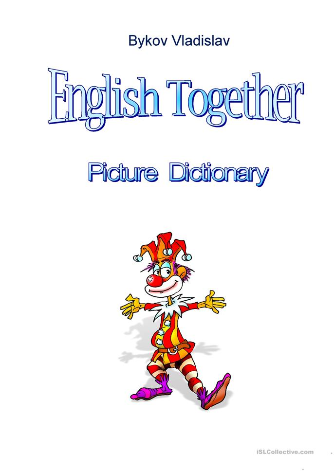 English together starter picture dictionary worksheet for Together dictionary