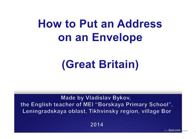how to put an address on an envelope worksheet