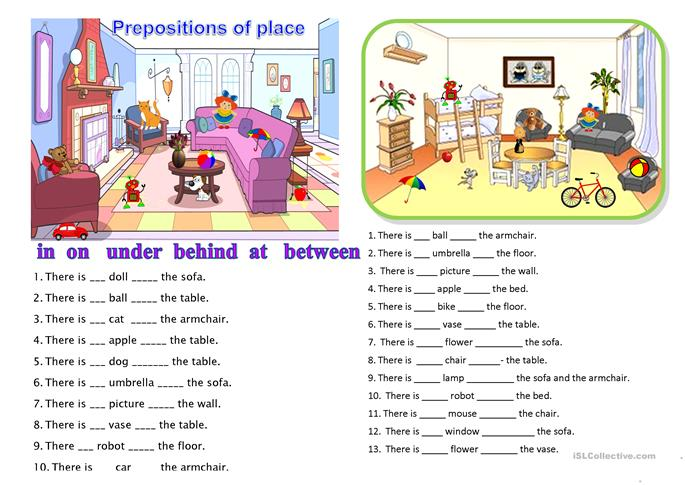 Prepositions of place worksheet Free ESL printable worksheets – Prepositions of Place Worksheet