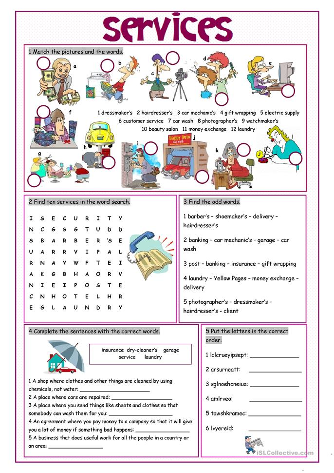 Goods And Services Worksheets Photos - Getadating