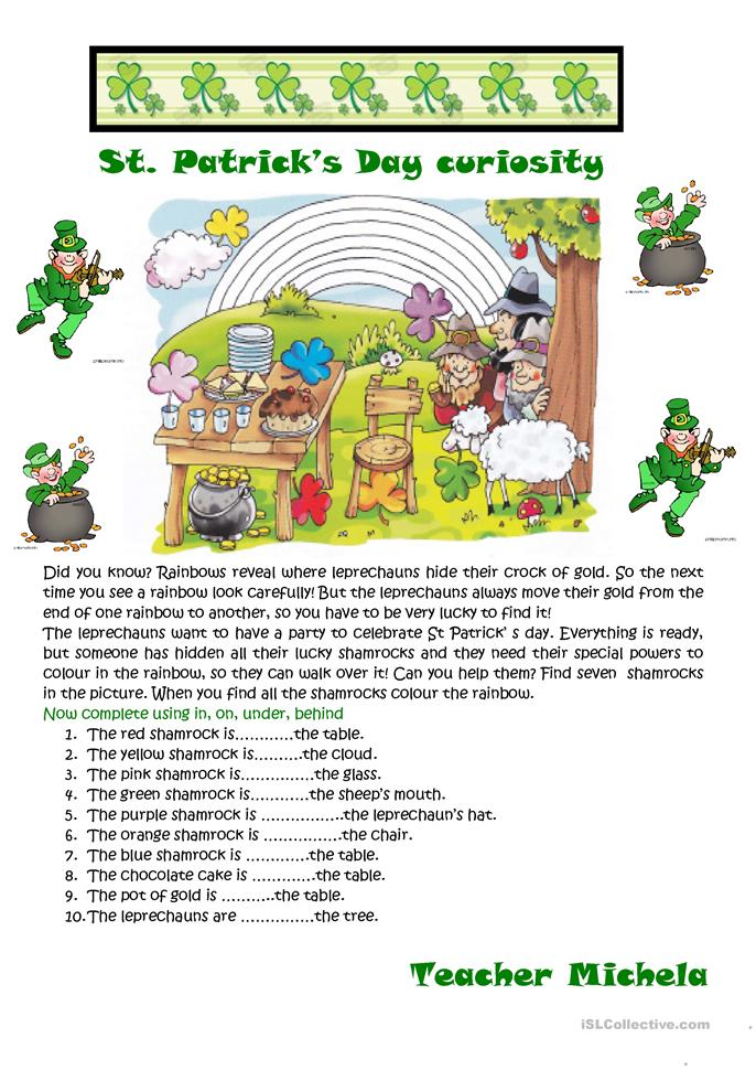 St. Patrick's Day curiosity - ESL worksheets
