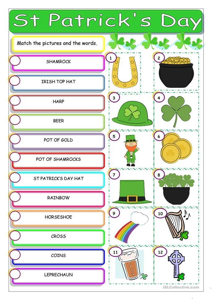 St Patrick's Day - ESL worksheets