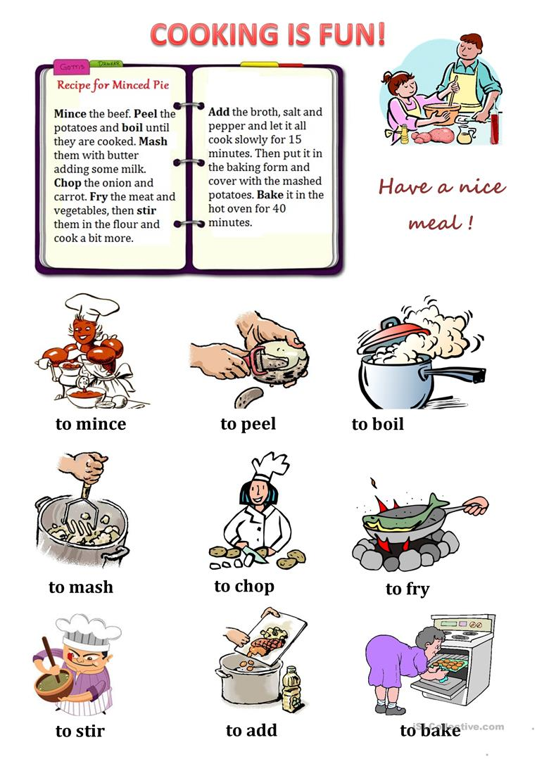 92 free esl recipe worksheets cooking verbs esl worksheets cooking verbs forumfinder Choice Image