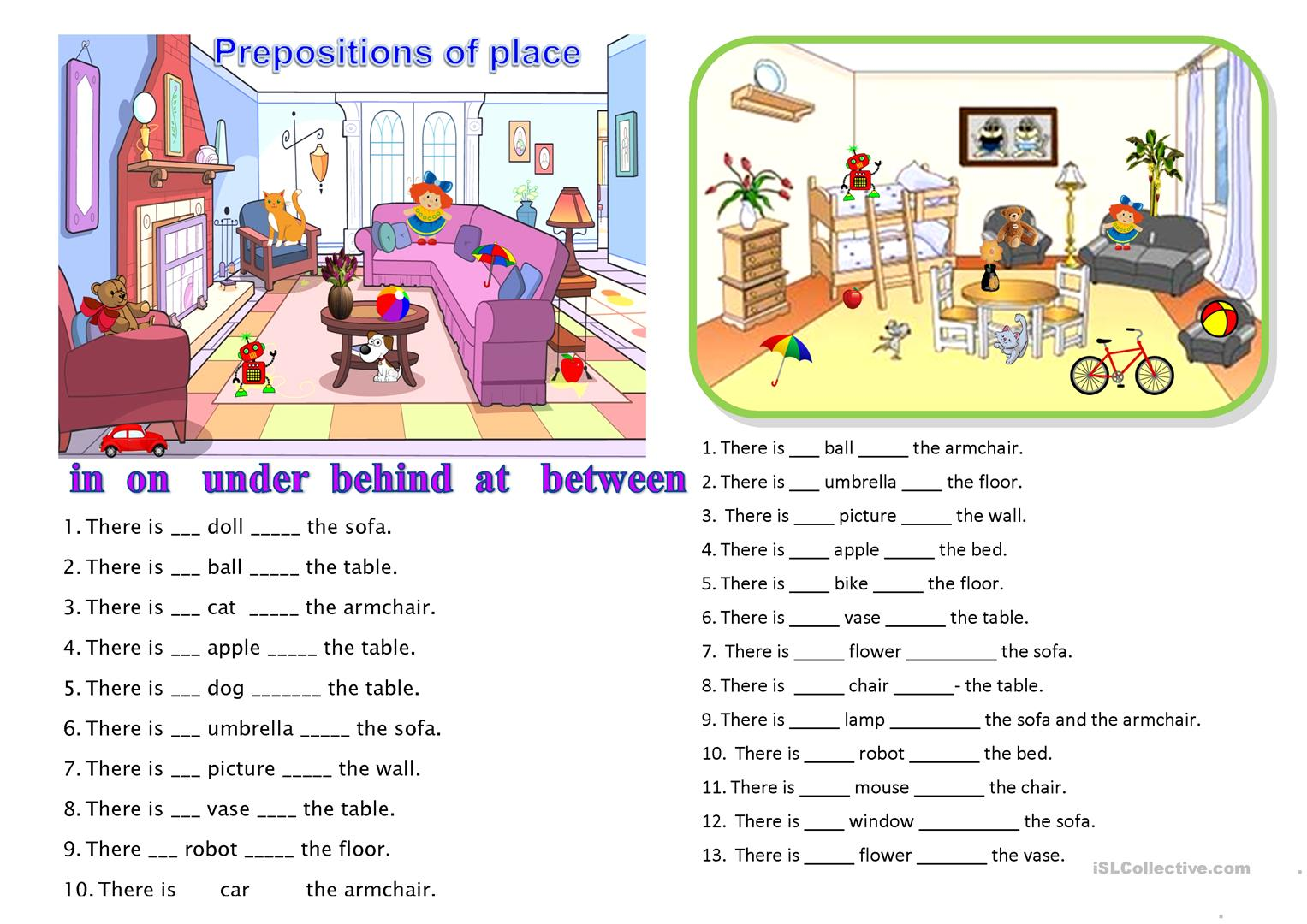 Worksheets Preposition Worksheet 55 free esl prepositions of place worksheets for elementary school place