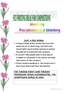 advertising pros and cons essay Pros and cons economics of  what are the advantages and disadvantages of consumerism update cancel answer wiki  clever advertising tricks also play a.