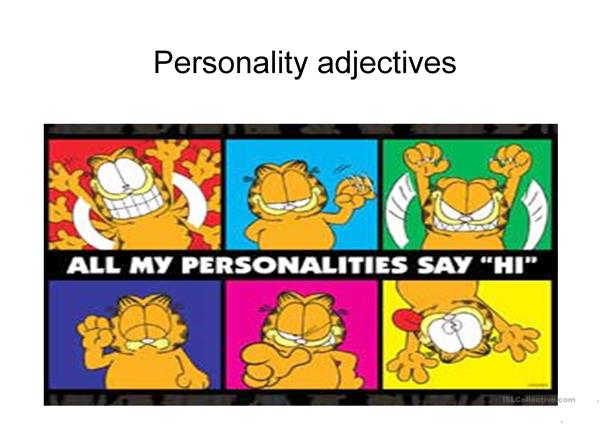 character adjectives