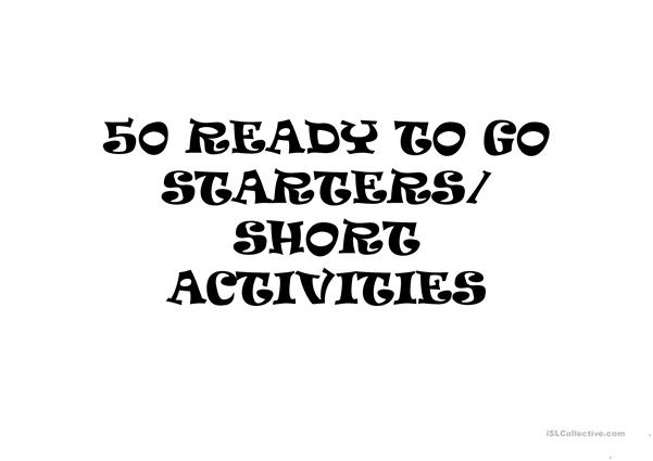 Fifty + activities