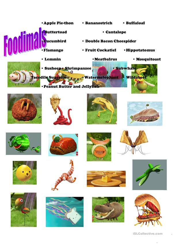 Foodimals - Cloudy with a chance of meatballs 2
