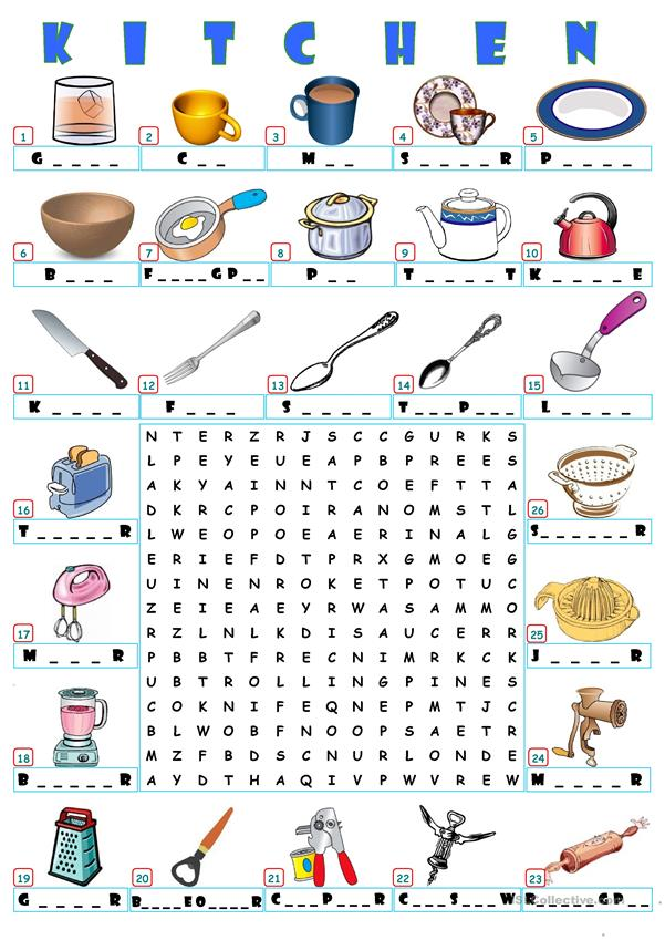 HOME - KITCHEN WORDSEARCH