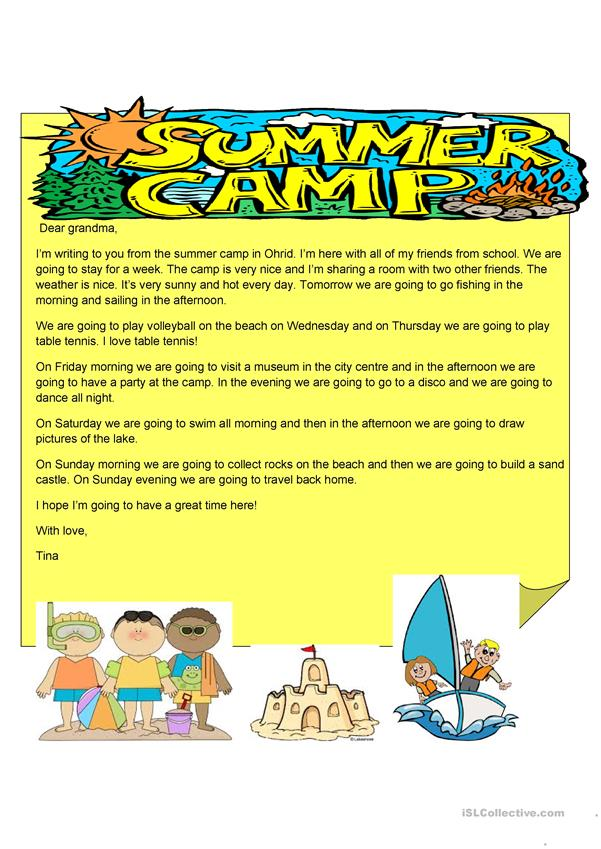 Letter from a summer camp