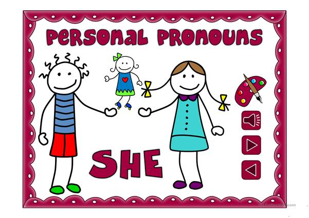 Personal pronouns - vocabulary *with sound*