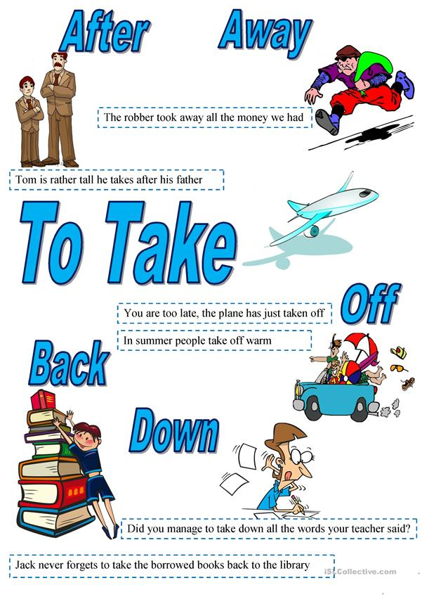 Phrasal Verb to Take