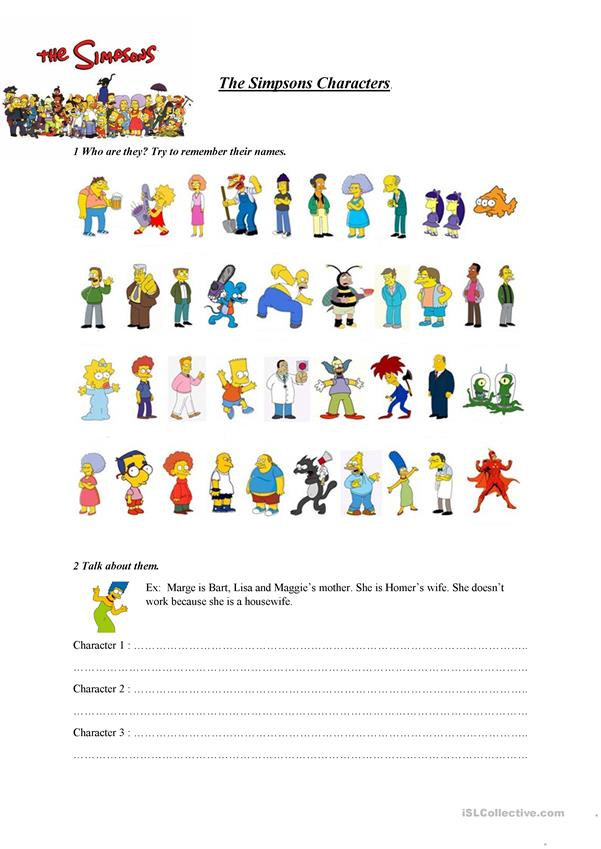 simpsons characters
