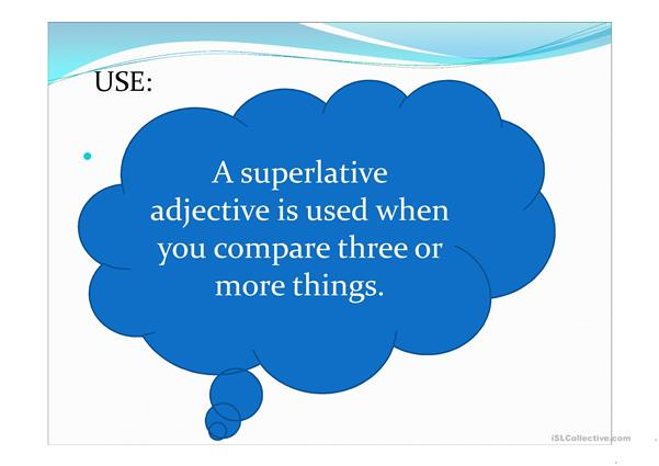 superlatives and comparatives