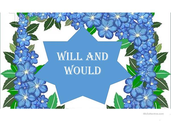 USE OF WILL AND WOULD