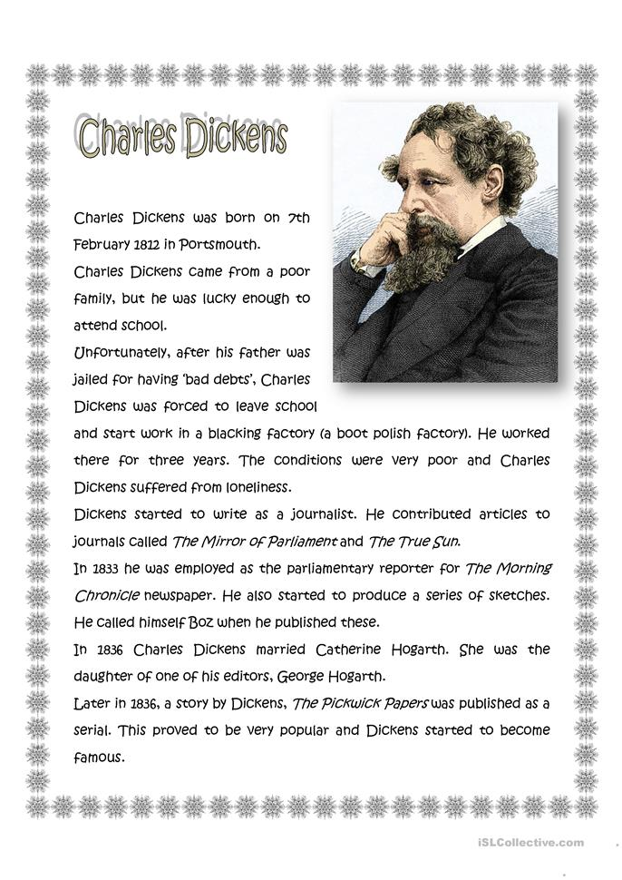 biography of charles dickens Charles dickens in 1850, when he was writing david copperfield  biography of  charles dickens begins in medias res in a dramatically.
