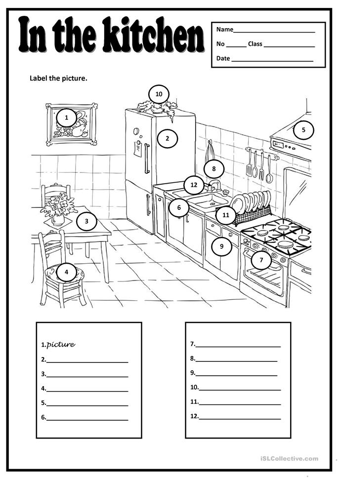 Safety In Kitchen Worksheets Just B Cause