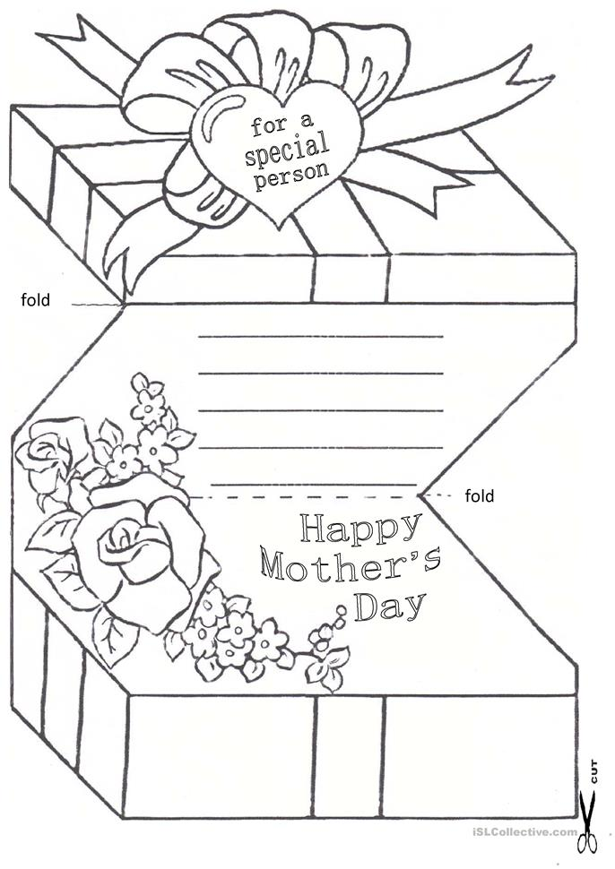 Mother´s Day Card - ESL worksheets