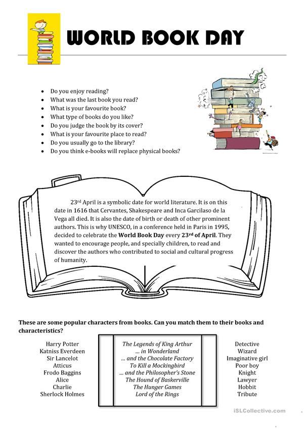 Book Day Games