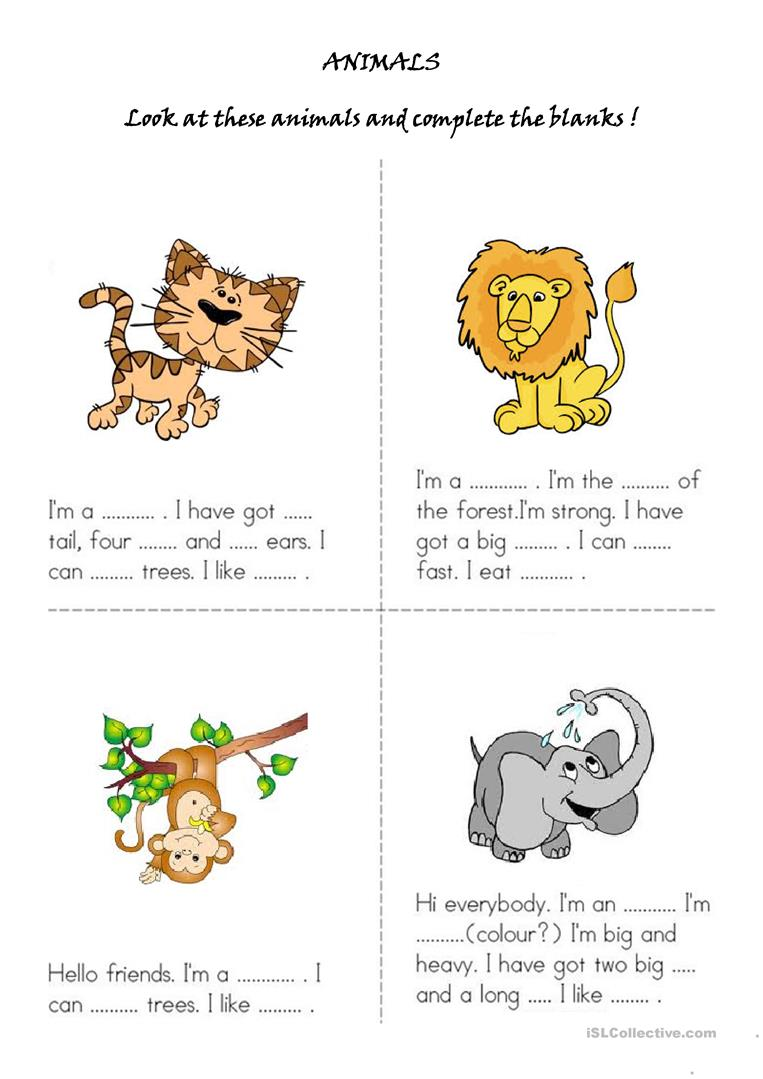Animals   English ESL Worksheets for distance learning and ...