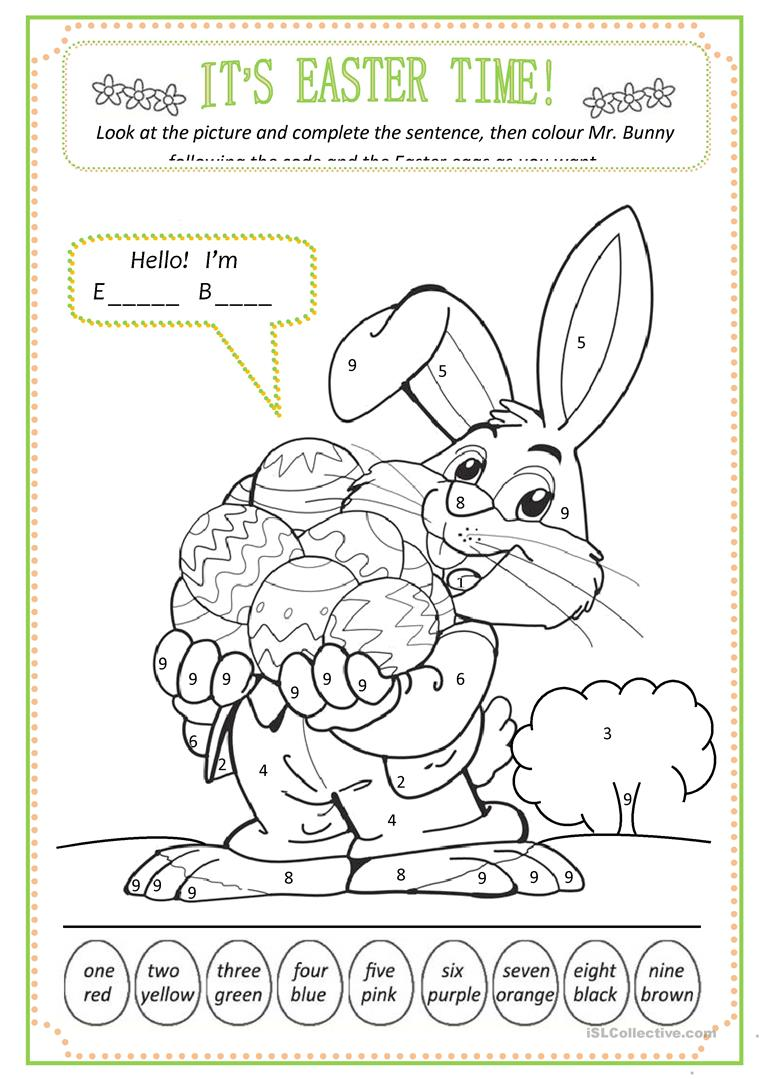 Easter Colour By Numbers English Esl Worksheets For Distance Learning And Physical Classrooms