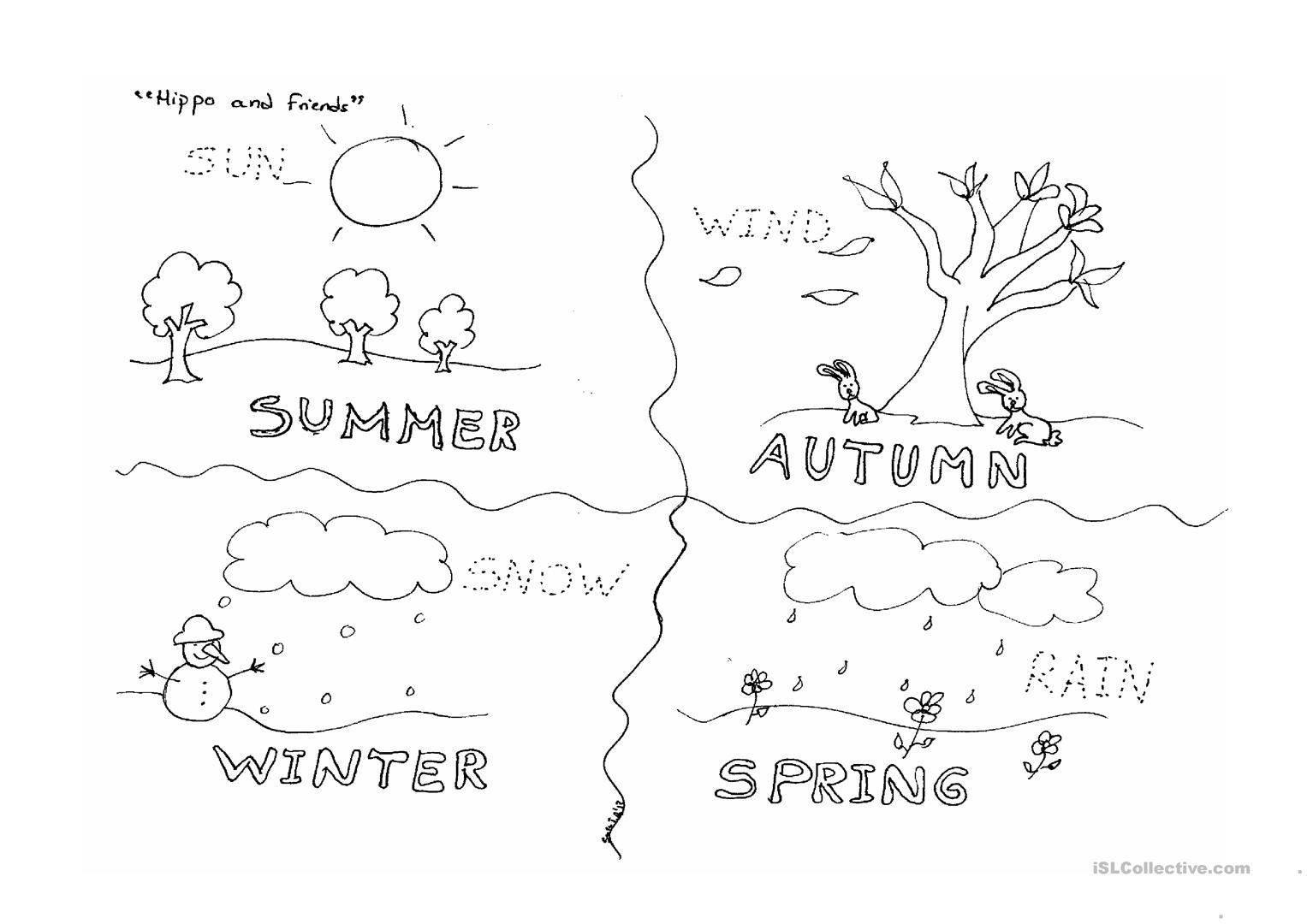 Worksheets Seasons Worksheets four seasons worksheet free esl printable worksheets made by full screen