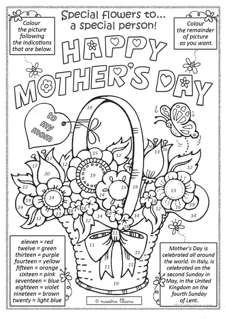 80 free esl mother worksheets mothers day activity robcynllc Gallery