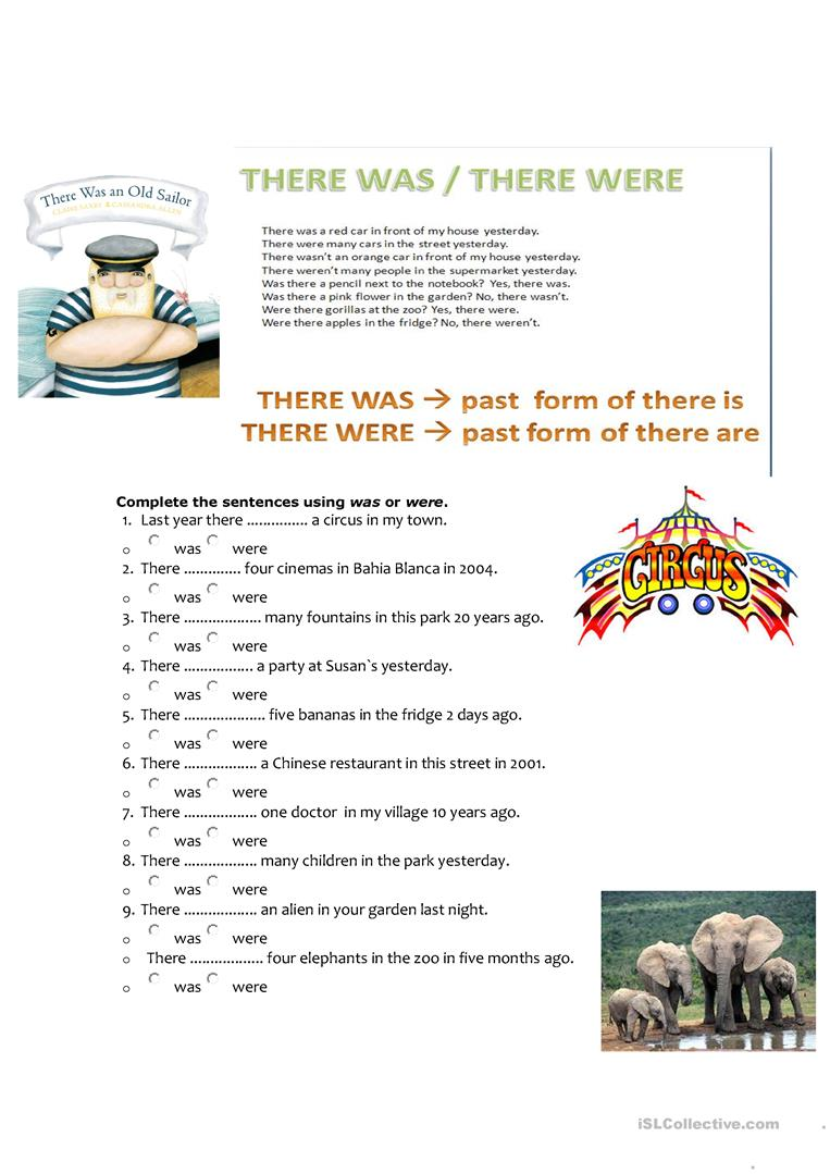 worksheet There Is Are Worksheet there was were worksheet free esl printable worksheets made full screen