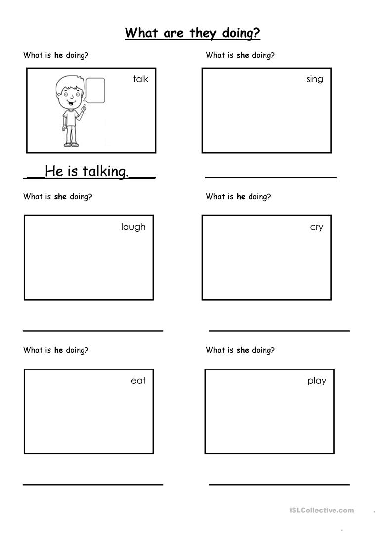 what is he she doing worksheet free esl printable worksheets made by teachers. Black Bedroom Furniture Sets. Home Design Ideas