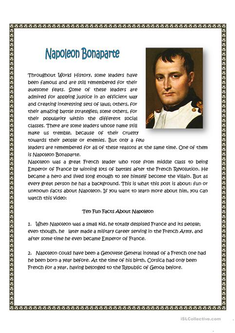 books written about napoleon bonaparte history essay Napoleon is the most mysterious and contradicting figure in world's history a person that is spoken about for centuries thousands of scientists argue about him, artists still draw his portraits.