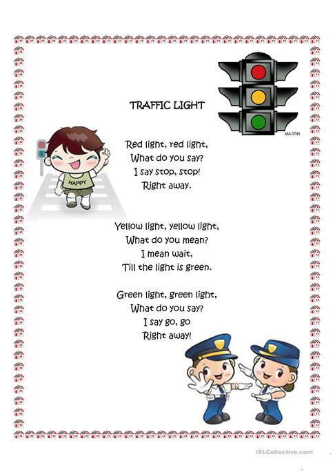 Traffic Light worksheet - Free ESL printable worksheets made by teachers