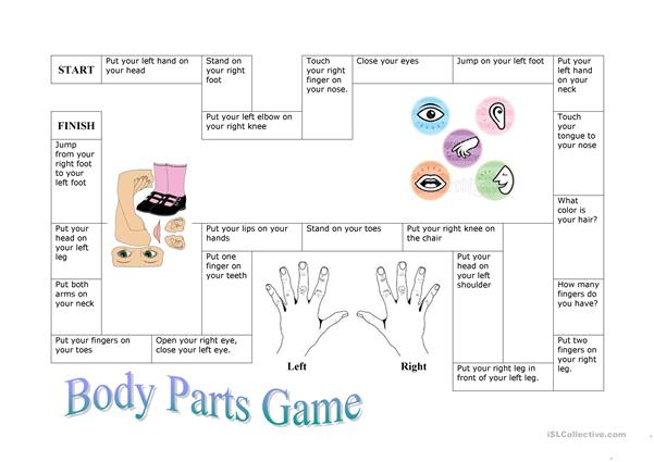 Body Part Board Game