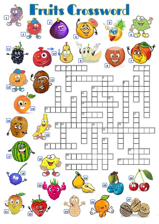 FRUITS - CROSSWORD