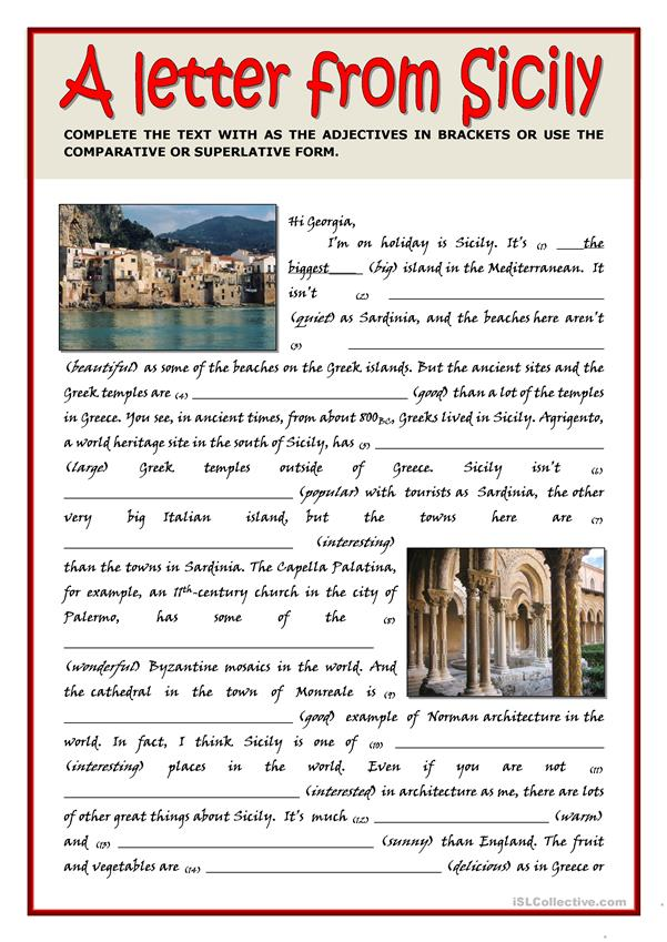 LETTER FROM SICILY - COMPARATIVE