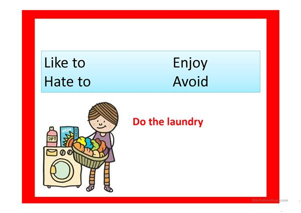 Like Hate Enjoy Avoid with Gerunds or Infinitives