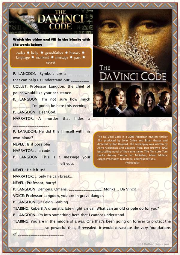 Movie trailer: The Da Vinci Code