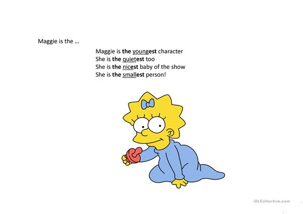 Superlatives, Personality and the Simpsons!