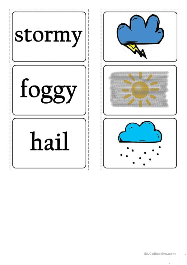 Weather Falshcards