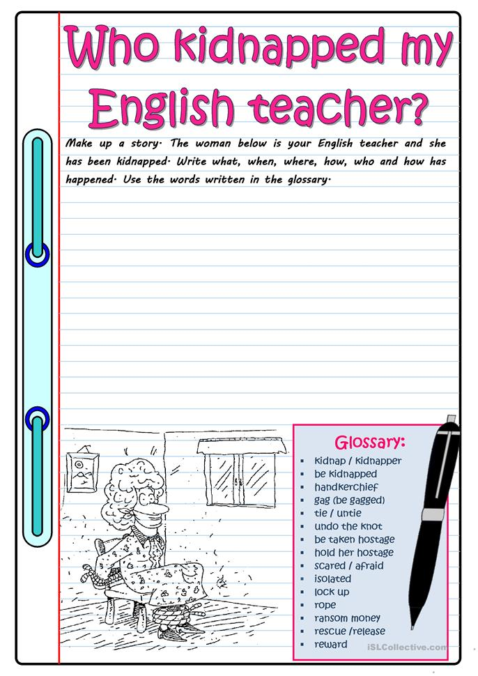 Fun Activity Worksheets For Adults : Kidnapped worksheet free esl printable worksheets made