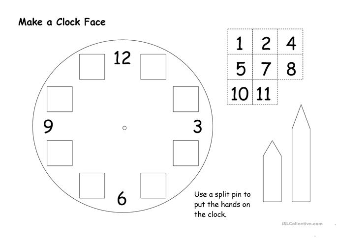Make A Worksheet : Make a clock face worksheet free esl printable