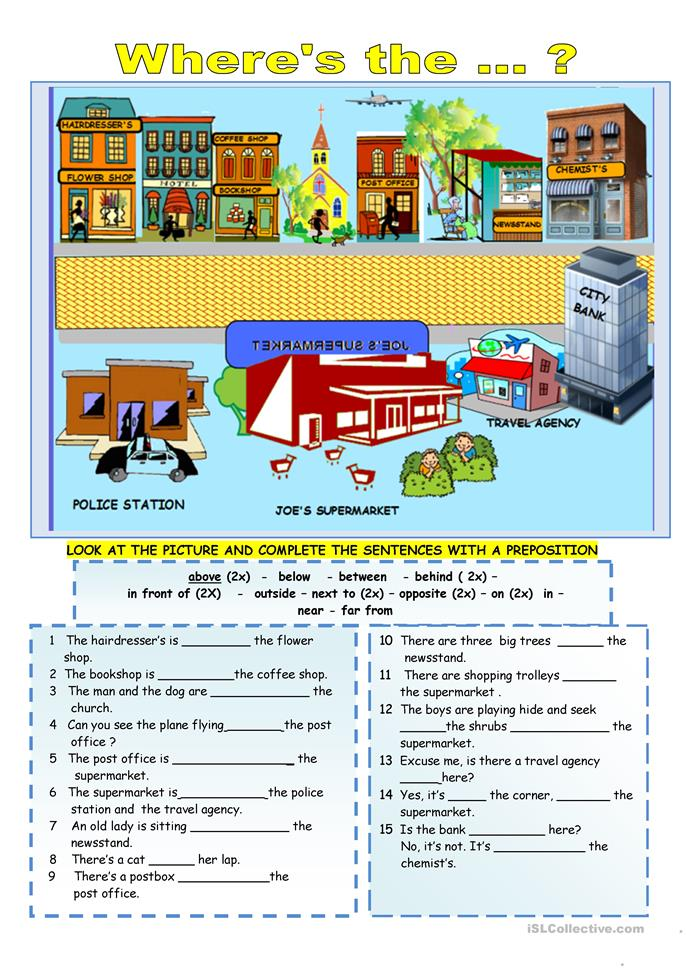 Preposition In Learn In Marathi All Complate: 85 FREE ESL Location Worksheets