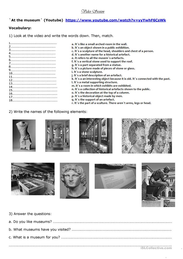 18 free esl mr bean worksheets mr bean at the museum solutioingenieria Image collections