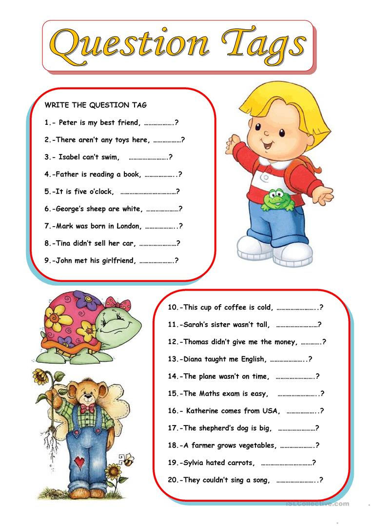 QUESTION TAGS - English ESL Worksheets