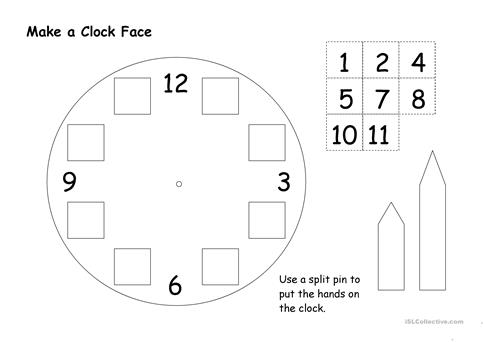 Clock Worksheet For Worksheets for all | Download and Share ...